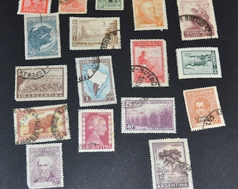 67 Argentina stamps many old