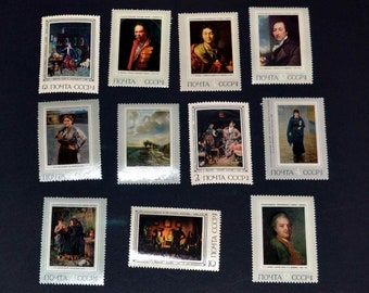 30 mint stamps From Russia Works of Art