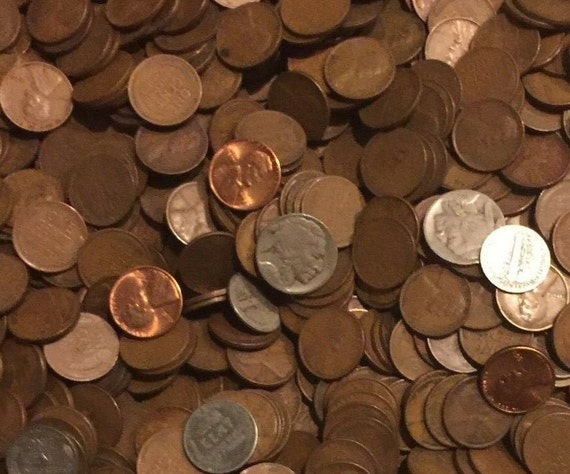 10 POUNDS of UNSEARCHED 1909-1958 LINCOLN WHEAT PENNY ESTATE HOARD