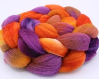 Targhee Wool Top (Roving) - Spinning / Felting Fiber 4 oz. - Autumn Splendor