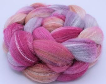 Targhee Bamboo Silk Wool Top (Roving) - Spinning / Felting Fiber 4 oz. - Pinky Swear