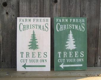 Christmas Tree Farm Christmas Winter Wood Sign