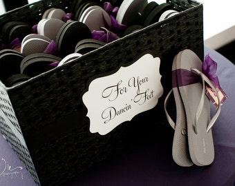 51a5b5218f697 Ornate Wedding Sign - For Your Flip Flop Basket - Dancing Shoes