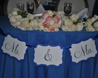 Mr. & Mrs. Banner - Perfect for your Wedding or Bridal Shower