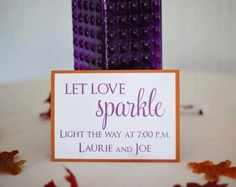 Let Love Sparkle Sign - 5x7 Custom Tent Sign for your Sparkler Send-Off