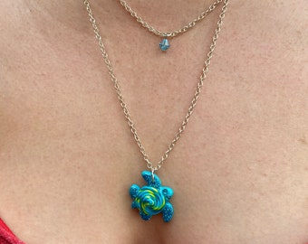 Colorful Sea Turtle Double Strand Necklace