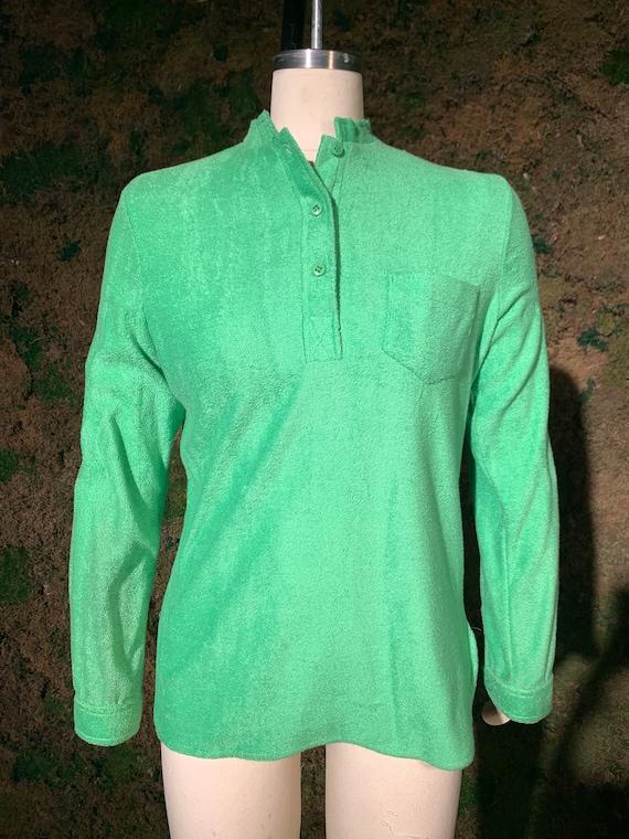 Vintage Green Terrycloth Shirt