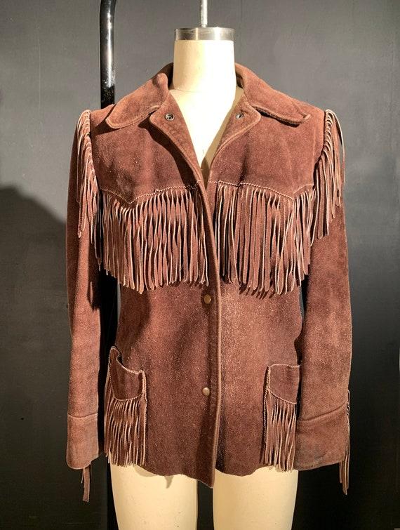 Vintage Suede Fringe Leather Jacket