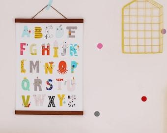 Happy Alphabet Poster