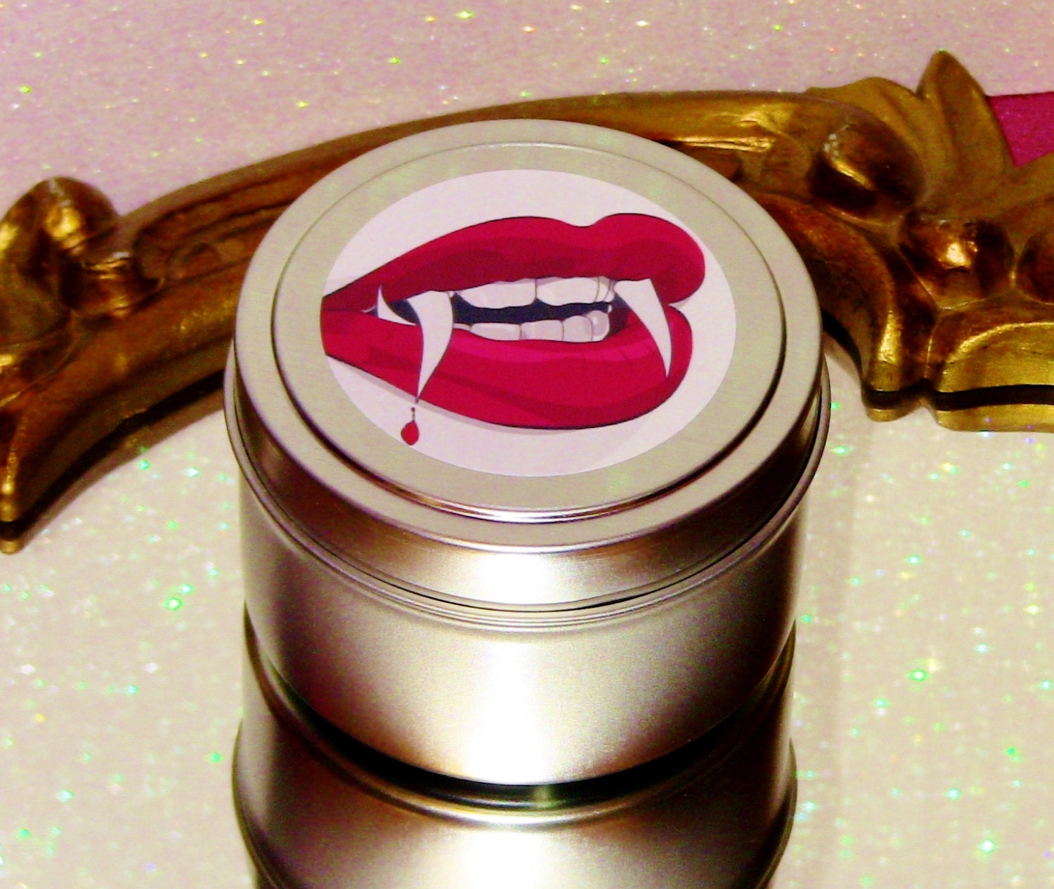 Vampire Bite Soy Candle Bdsm Pinup Girl Sexy Cute Kreepy -7931