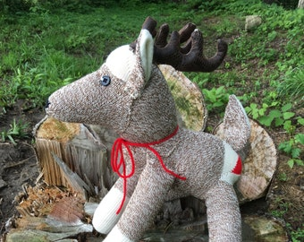 Handmade Sock Monkey Deer/ Buck