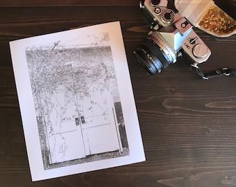 Doors to Nowhere - Darkroom Print, silver gelatin print, dark room print, film photography, black and white print