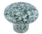 Set Of 2, Speckled, Ceramic, Cabinet Knob, Drawer Pull green, white, Enamelware, Granite ware, furniture knobs, Graniteware