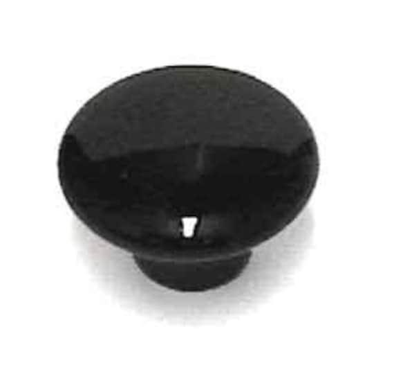 Auf Verkauf Jet Schwarz Keramik Möbelknauf Knäufe | Etsy