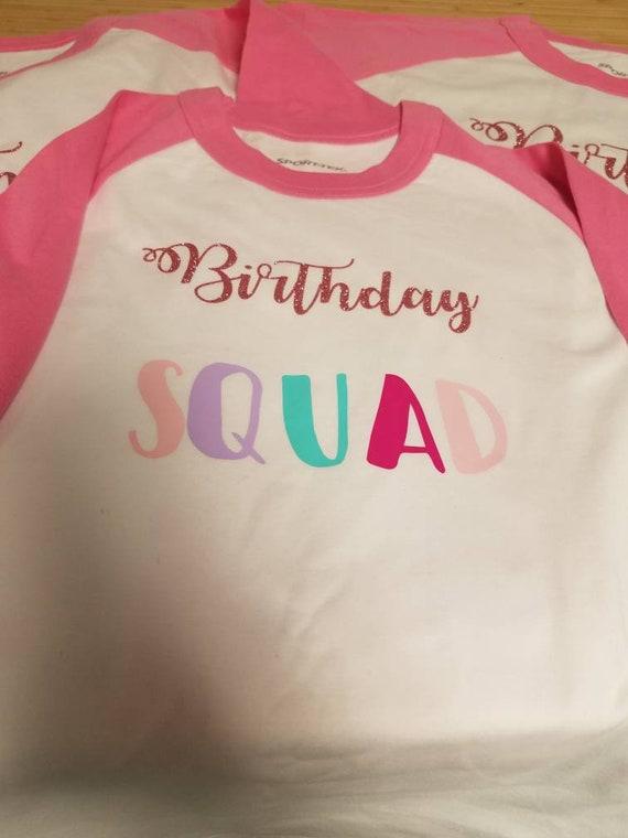 Custom Birthday Squad Baseball Tee