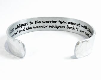 """Encouragement - Fate whispers to the warrior """"you cannot withstand the storm"""" and the warrior whispers back I am the storm ~ 1/2"""""""