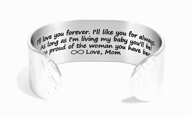 Mother to Daughter Gift  I'll love you forever I'll image 0