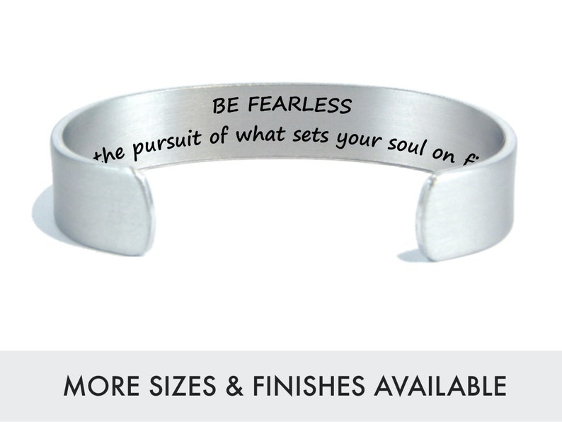 Be Fearless  Survivor Bracelet  Recovery Gift  Girl Power  image 0