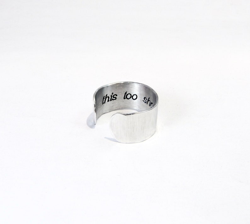 Breakup Ring  Divorce Ring  this too shall pass  image 0