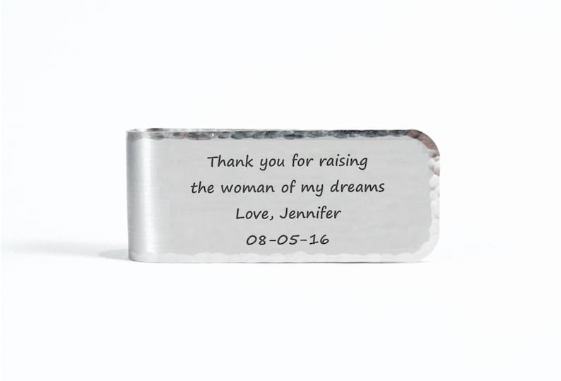 Father of the Bride Money Clip  Thank you for raising the image 0