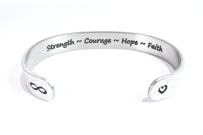 READY TO SHIP  Strength  Courage  Hope  Faith  image 0