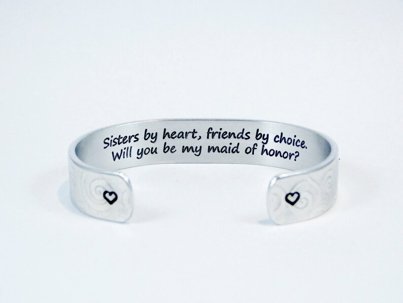 Sisters by heart friends by choice  Will you be my maid of image 0