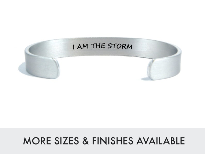 I am the storm  Encouragement Gift  Survivor Gift  Recovery image 0
