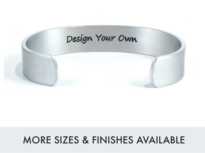 DESIGN YOUR OWN Personalized Cuff  Mom Gift  Daughter Gift  image 1