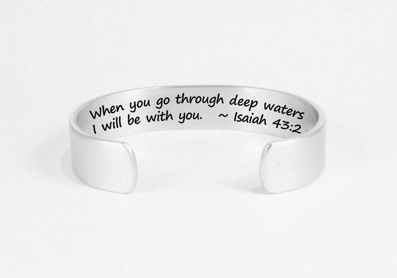 Custom Jewelry When you go through deep waters I will be with image 0