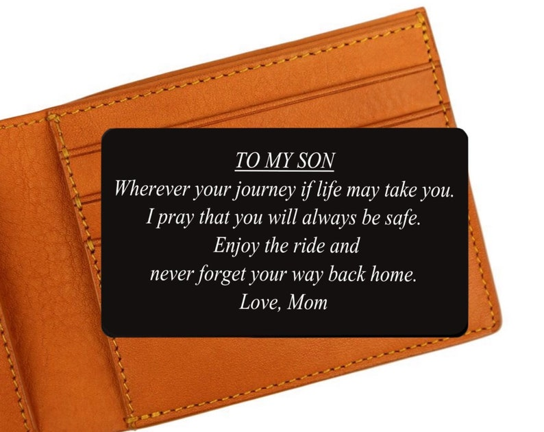 Engraved Wallet Card  To My Son / Daughter  Encouragement image 0