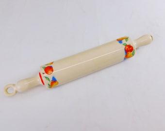 Rolling pin Ceramic tool. Bamboo butterflies