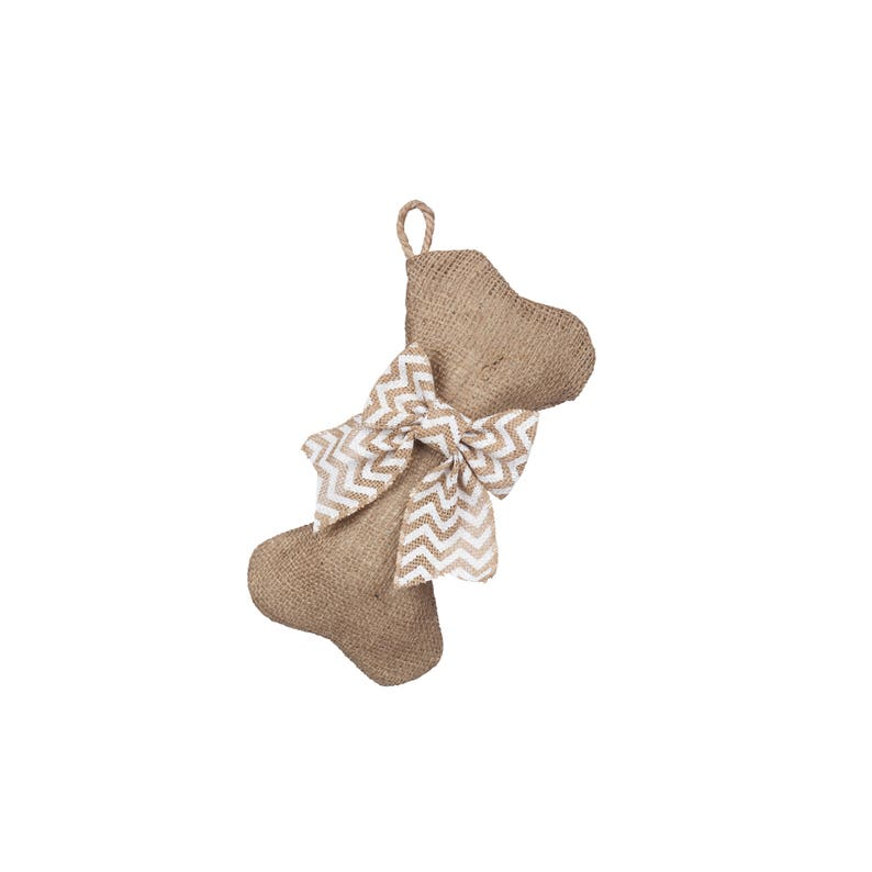 Burlap Pet Stocking Mini-Dog Bone Stockings