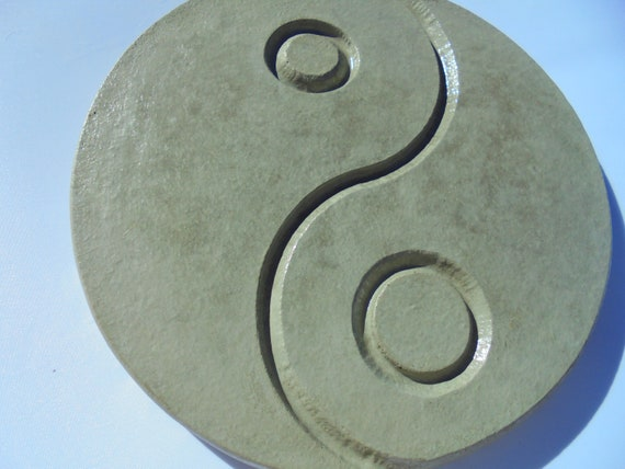 Ying Yang Bad : Asian woman hand holding yin yang fortune telling wood with