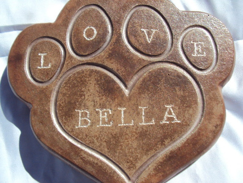 Dog Memorial Grave Marker Grave Stone You Choose Name image 0