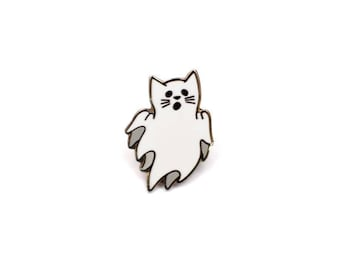 Ghost Cat - Enamel Pin