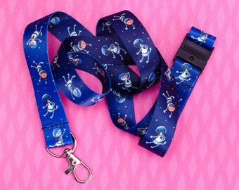 Astronaut Cats in Space - Lanyard