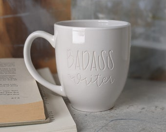 Printed Ceramic Coffee Tea Cup Gift 11oz mug Writers Quote