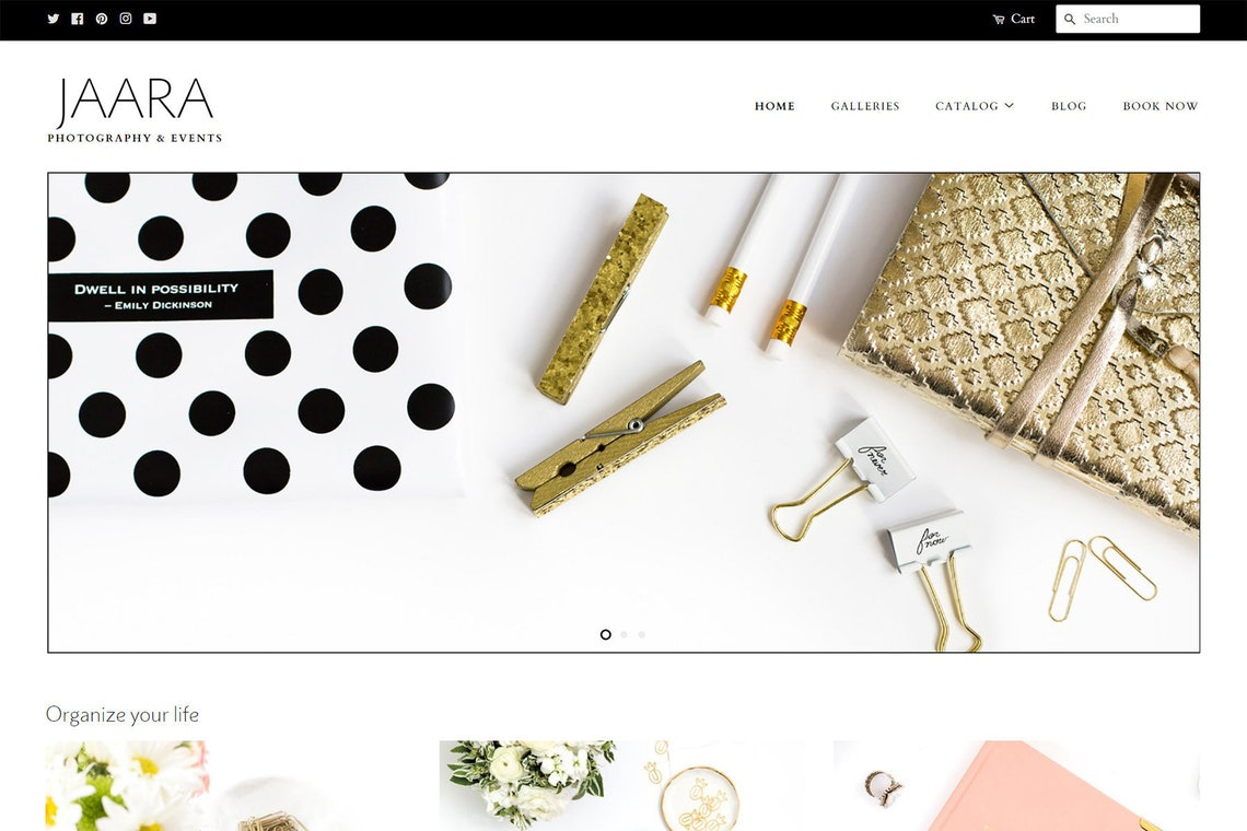 Black Tie Style Elegant Shopify Website Theme Modern Feminine image 0