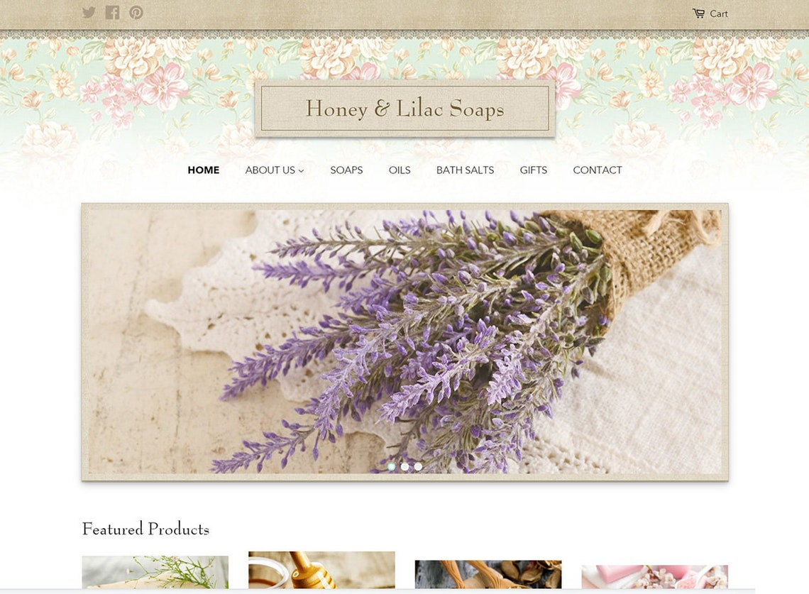 Joli Millesime Classic Shopify Website Theme Floral Print and image 0