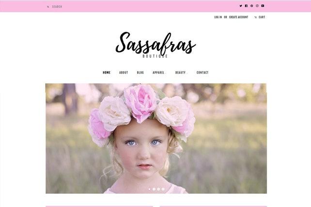 Grace -Trendy Elegant Shopify Website Theme Modern Feminine Design