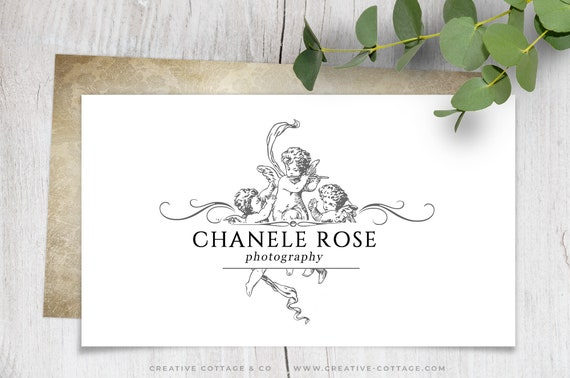 Seraphim Cherub Shabby Chic Vintage Damask Business Card