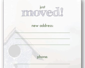 Fill in the Blank We've Moved Announcements make your cards RE-USABLE!