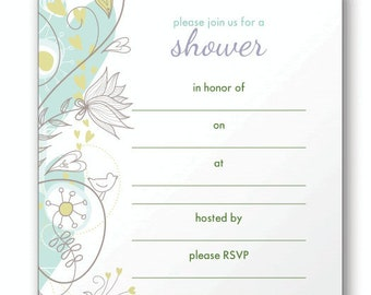 Shower Invite Fill in the Blank Stickies for Your Invitations