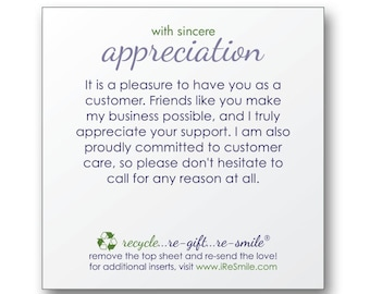 Customer/Client Appreciation Sticky Notes for Gifts and Orders