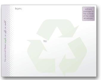 re-smile Address Slip for Mailing in Clear Envelopes