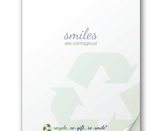 Smiles are Contagious! (Share the love again and again! Re-smile stickies make your cards re-usable.)
