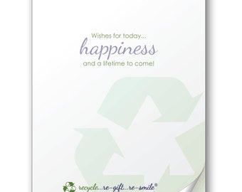 Happiness Always! Stickies for Wedding, Graduation, Birthday, and Anniversary Cards