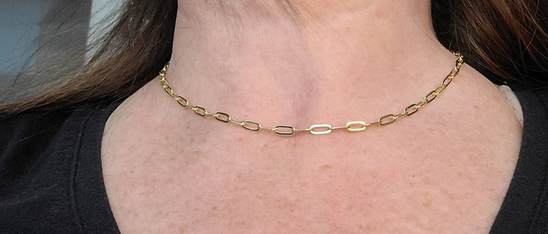 Paperclip chain 14k for layering or Pendants