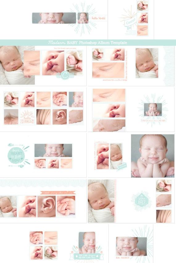 NEU Hipster Baby Fotobuch Vorlage Photoshop Album Vorlage