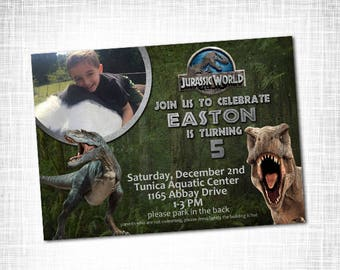 JURASSIC World Birthday Invitation PRINTABLE Jurassic Invite Dinosaur Digital File